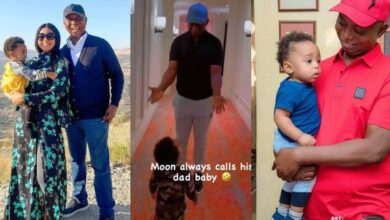 Photo of Regina Daniels shares video of her son calling Ned Nwoko baby